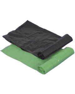AFFALDSPOSER i sort og grøn i stærk kvalitet til store spande - Fra BasicClean.dk