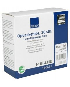 OPVASKETABS 30 STK. med afspændingsmiddel, salt og porcelænsbeskyttelse - Fra BasicClean.dk