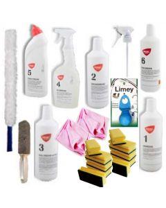 intropakken plus indeholder de mest solgte produkter fra Basic Clean og alt til den mest almindelige rengøring - Fra BasicClean.dk
