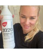 Hånddesinfektions gel 85% i 1 liters flaske - Fra BasicClean.dk