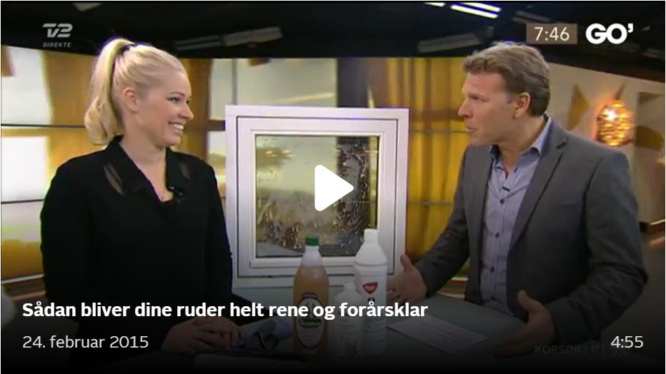 Se rengøringsekspert Louise på TV2 fortælle om vinduesvask